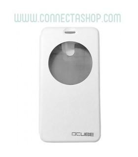 Funda con tapa Elephone P7000 - Blanca