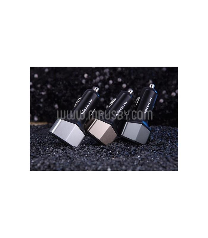 Cargador Coche QC 3.0 (USB + Tipo C) NILLKIN Negro