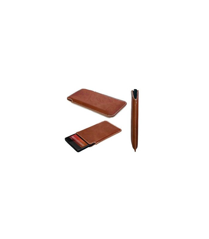 Funda tipo libro CUBOT MAGIC Marron