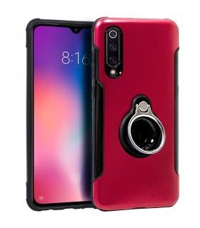 Carcasa Xiaomi Mi 9 Aluminio + Anilla (Rojo)