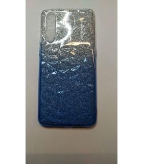 Funda Silicona Xiaomi Redmi 7 Purpurina azul
