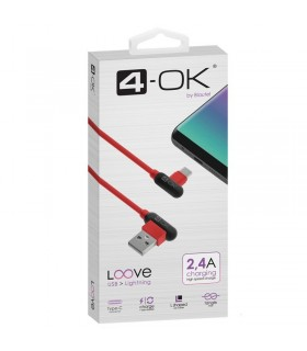 CABLE USB A TIPO C 2.4A Rojo