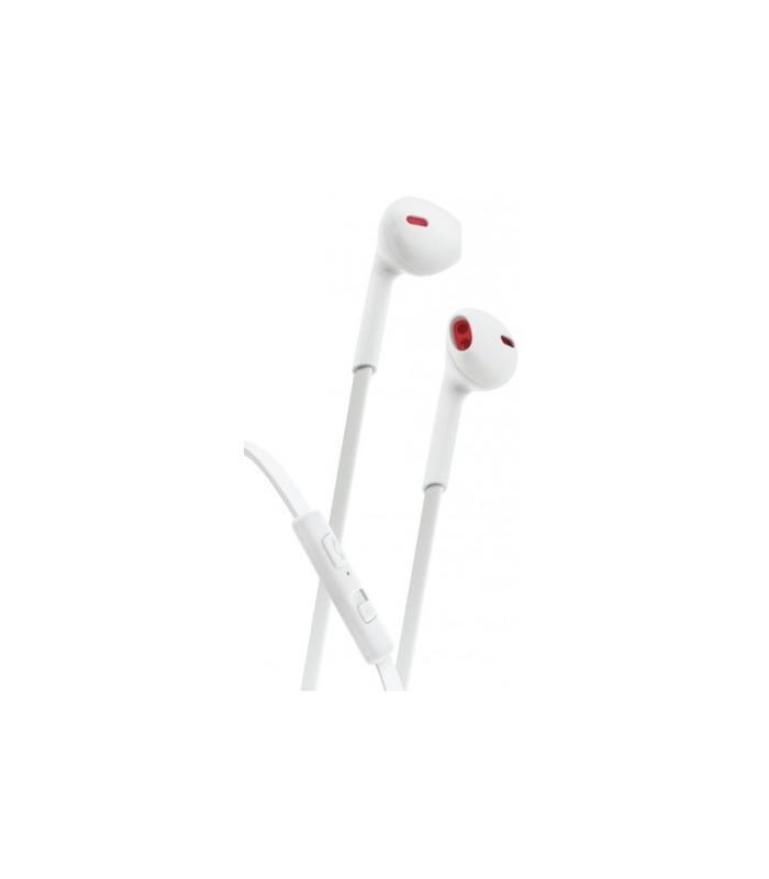 EAR FLAT WHITE- AURICULARES ESTEREO CON MICROFONO