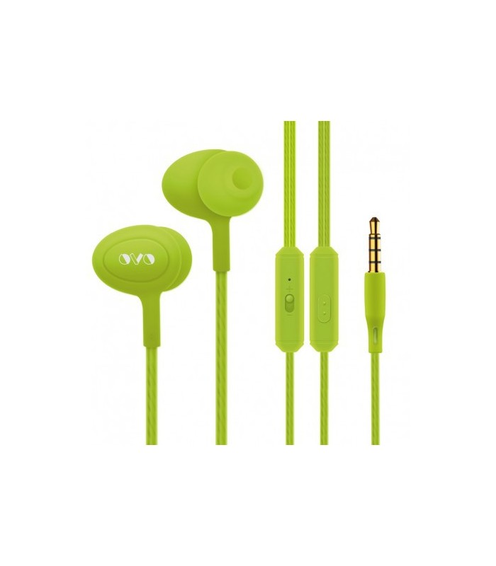 Auricular Stereo Jack TRS 3.5 MM + Microfono Verde