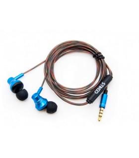 Auriculares articulados con cable trenzado Azules - StikGO