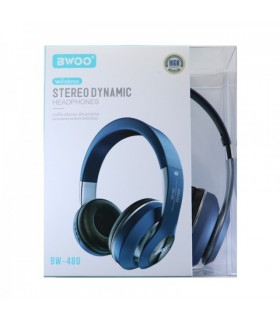 Auricular Cascos Bluetooth BW-480 Azul