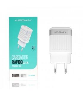 Cargador Rapido 2,1A Adaptador USB