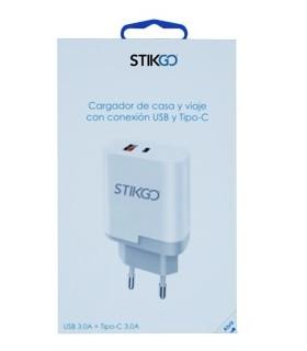 Cargador Pared USB 3.0A + TIPO C 3.0A