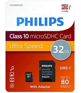 Tarjeta Memoria MicroSD 32GB Philips