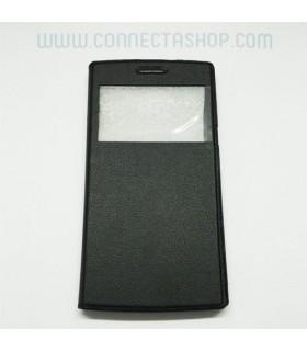 Funda tipo libro DG580 Negra con ventana