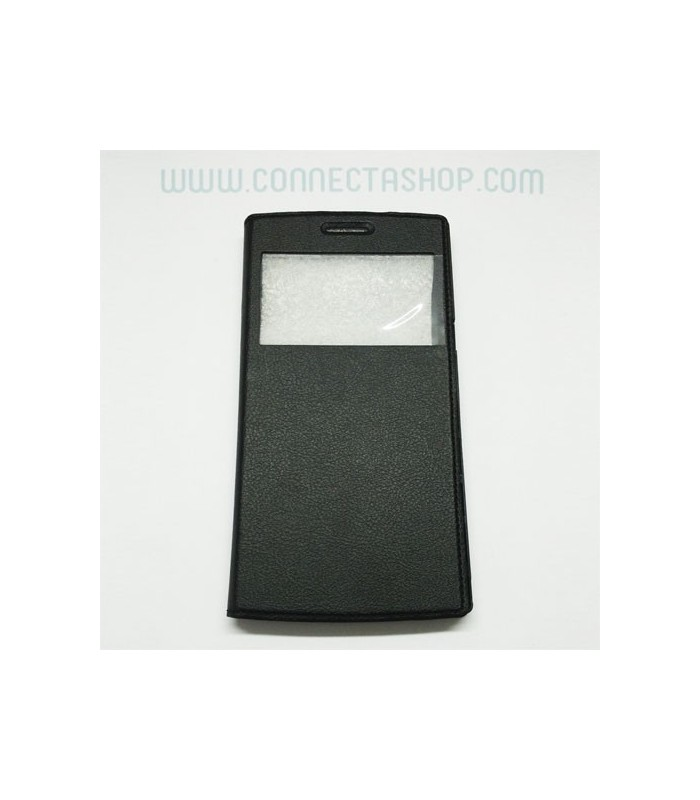 Funda tipo libro ventana Dg580 - Negro