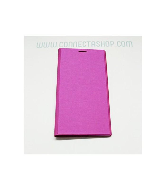 Funda tipo libro original Xiaomi Mi3 fucsia