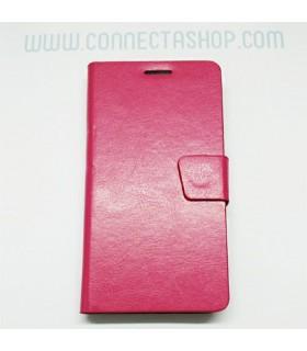 Funda tipo libro Xiaomi Mi4 fucsia