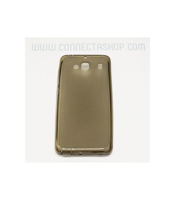 Funda silicona Xiaomi RedMi 2 marrón translúcida