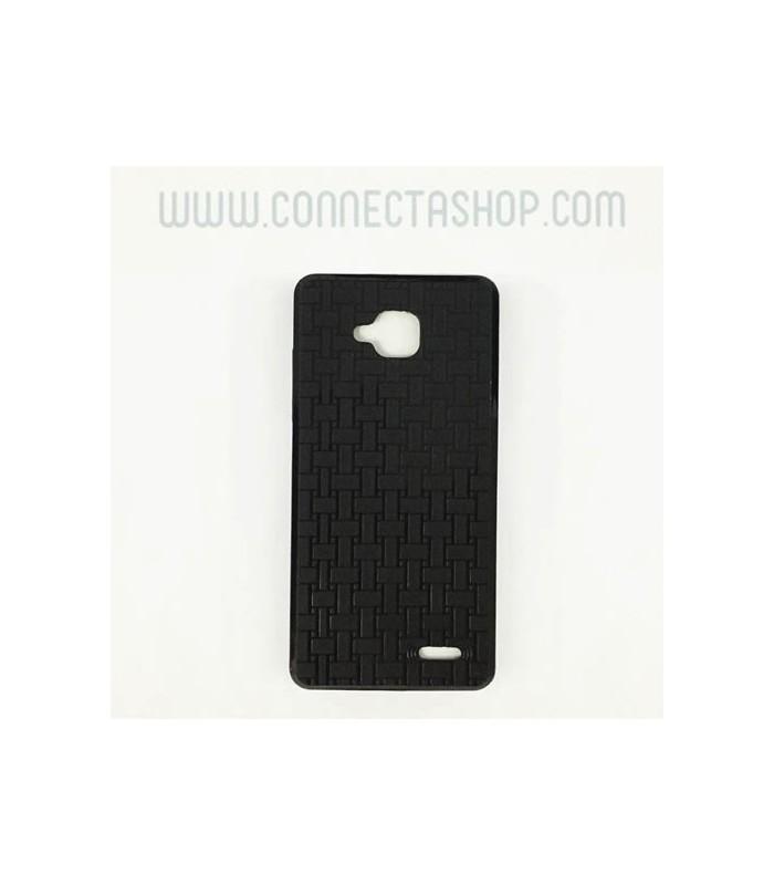 Funda silicona Jiayu G3 original negro con grabado