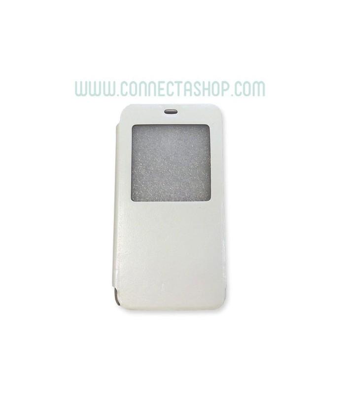 Funda tipo libro Meizu M1 blanco con ventana