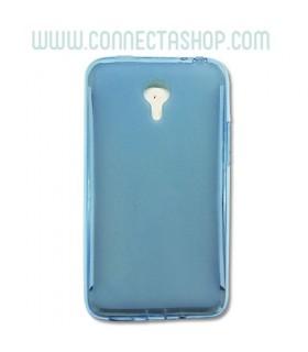 Funda Silicona Translúcida Meizu M1 Note Básica Azul