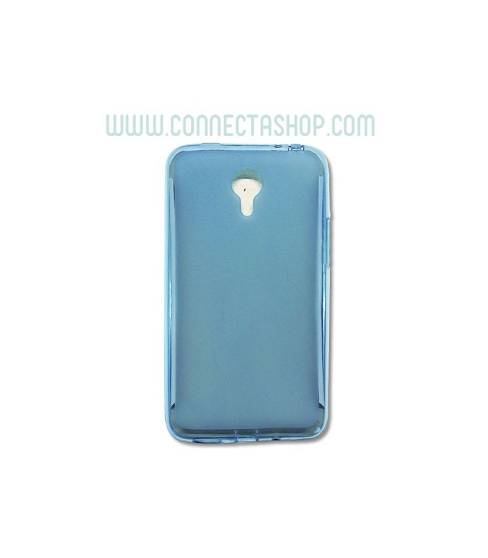 Funda silicona translúcida Meizu M1 Note azul