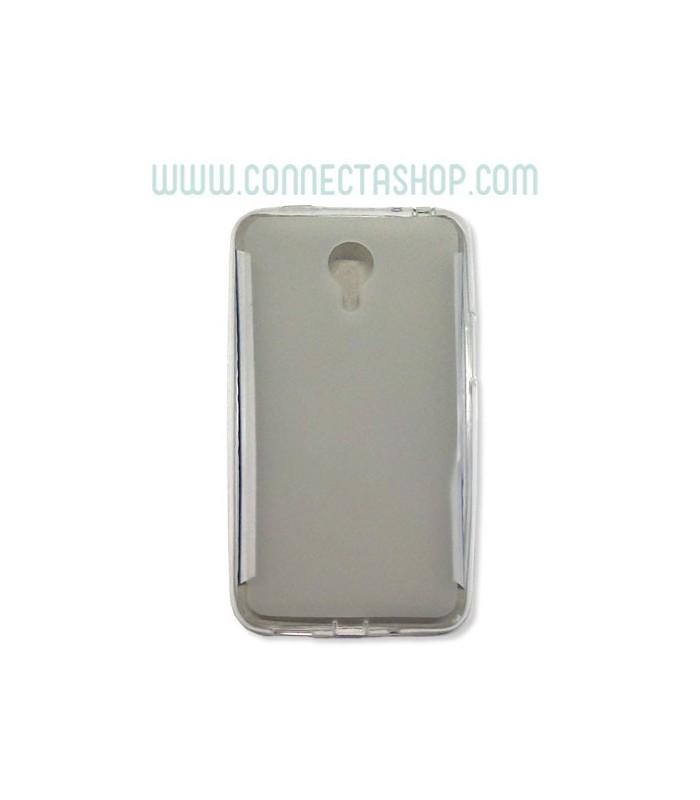 Funda silicona translúcida Meizu M1 Note transparente