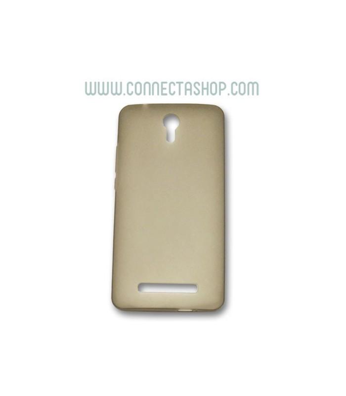 Funda de silicona jiayu S3 translúcida marrón